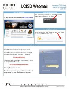 Logging into LCISD Webmail