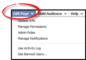 Facebook - Edit Page Tab