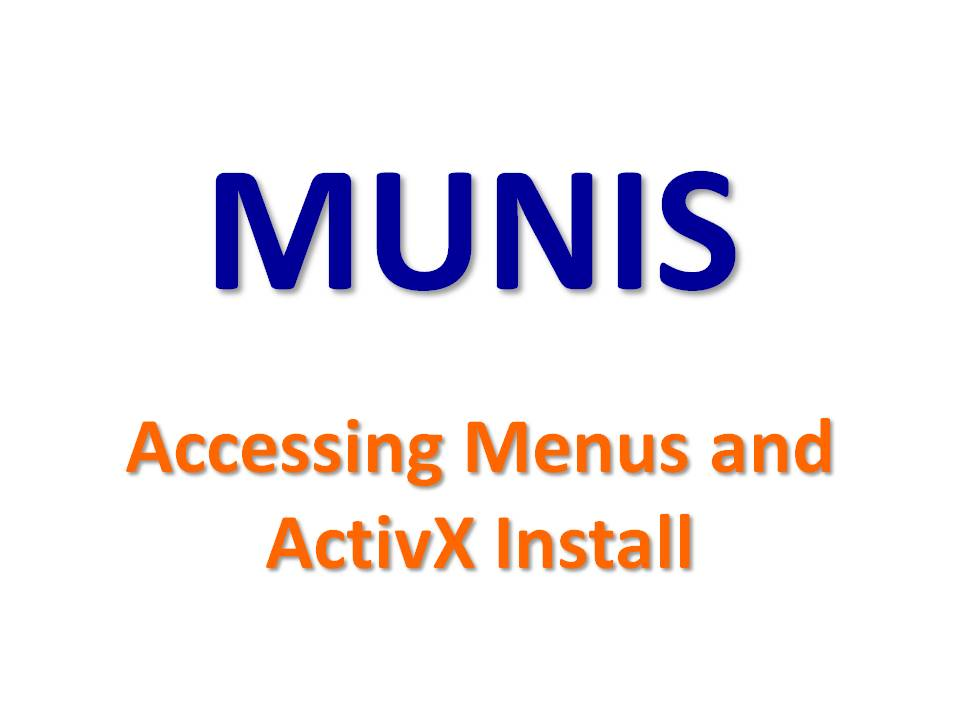MUNIS - Installing ActiveX Codec