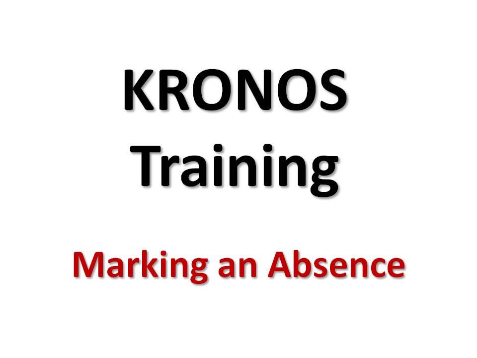 Marking an Absence